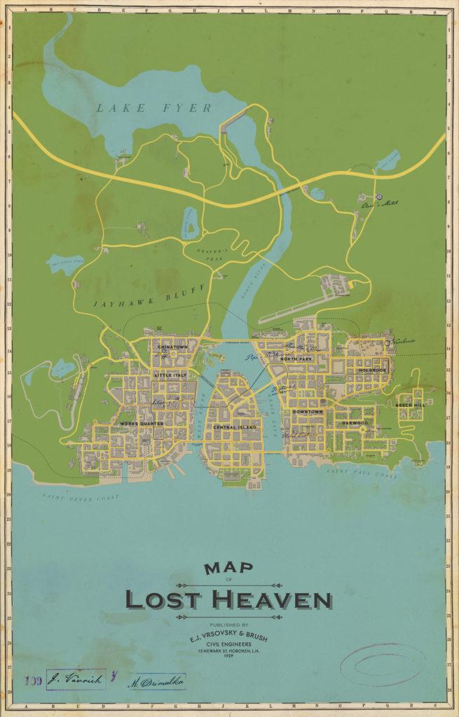 Mapa Lost Heaven - Mafia: Definitive Edition