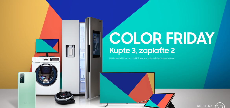 Samsung Color Friday: kupte 3 produkty, zaplaťte 2