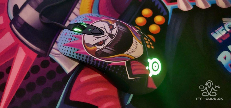 Herná myš SteelSeries Sensei Ten Neon Rider – recenzia
