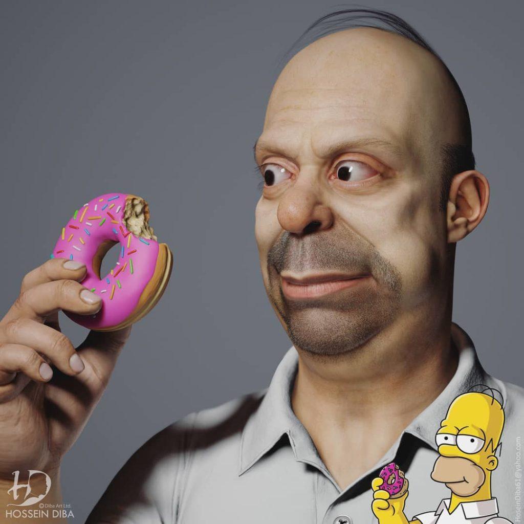 Simpsonovci ožili vďaka nadaniu Hosseina Dibu