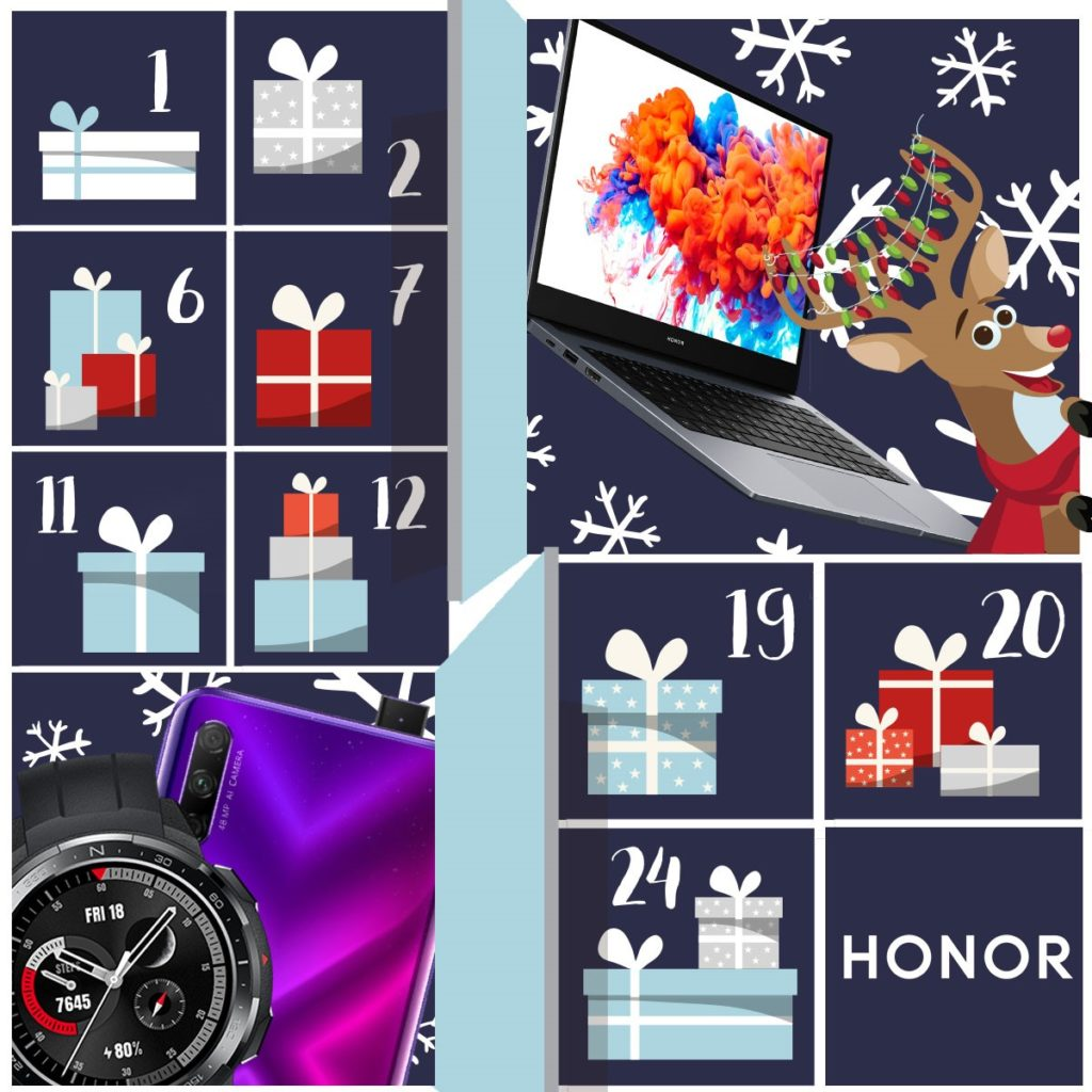 HONOR: obrovské předvánoční slevy a soutěžní Adventní kalendář!