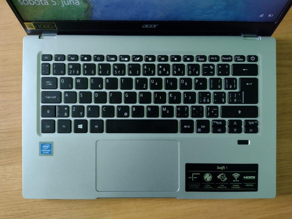 Acer Swift 1 - klávesnica