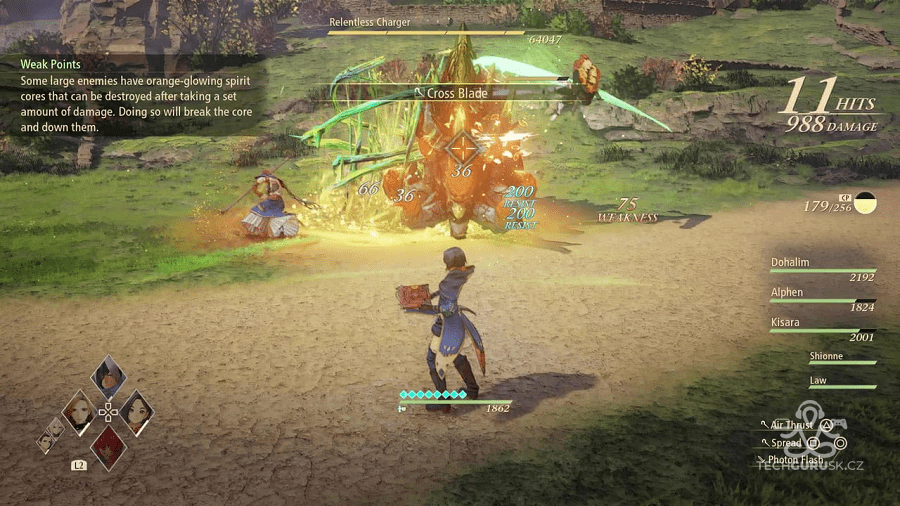 tales of arise combat footage