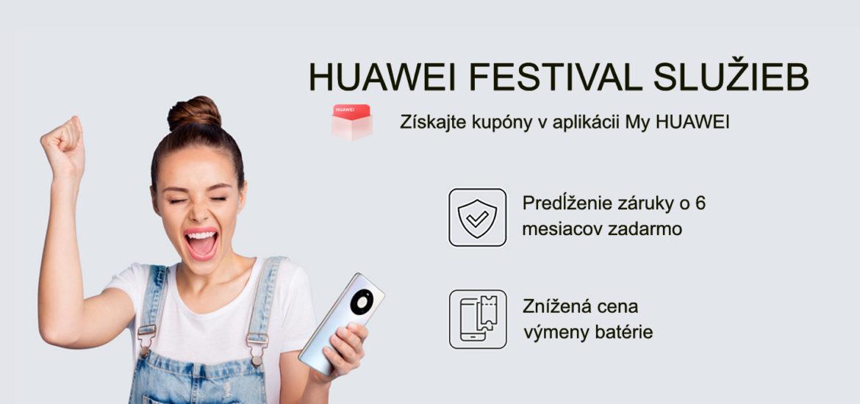 Huawei Servis Festival Ide o predĺženie záruky o šesť mesiacov a výmenu batérie za zvýhodnenú cenu.